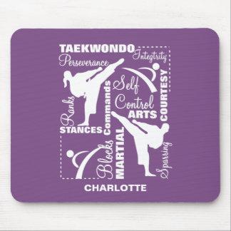 Taekwondo Martial Arts Sports Terminology Mouse Pad