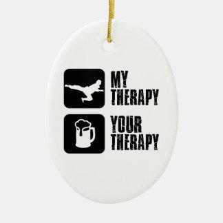 Taekwondo my therapy ceramic ornament