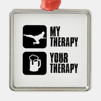 Taekwondo my therapy metal ornament