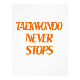 Taekwondo Never Stops Letterhead