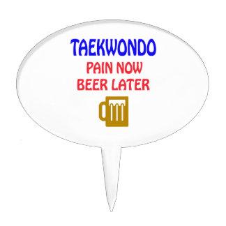 Taekwondo pain now beer later cake topper