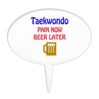 Taekwondo pain now beer later cake picks