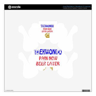 Taekwondo pain now beer later PS3 controller skin