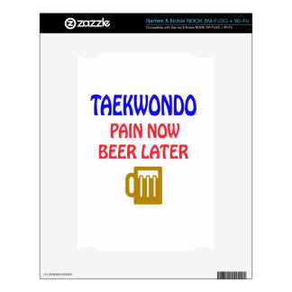 Taekwondo pain now beer later skins for NOOK