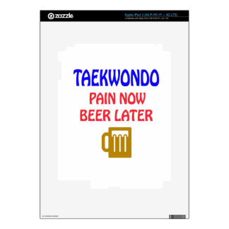 Taekwondo pain now beer later iPad 3 decal