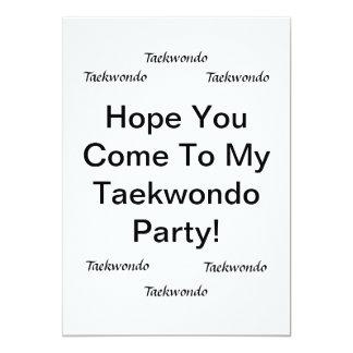 Taekwondo Party Cards