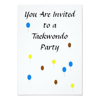 Taekwondo Party Invitation