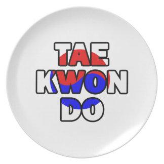 Taekwondo plate