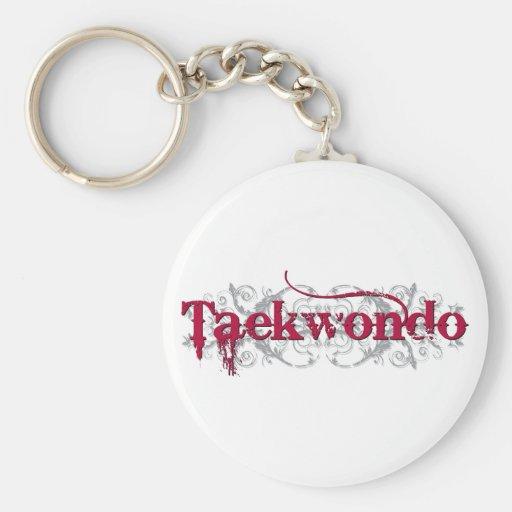 Taekwondo Red Keychain