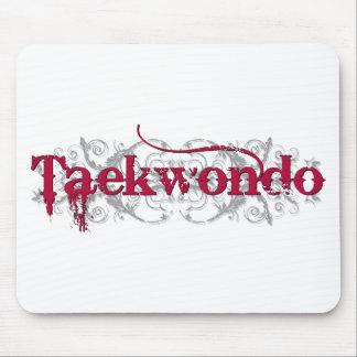 Taekwondo Red Mouse Pad
