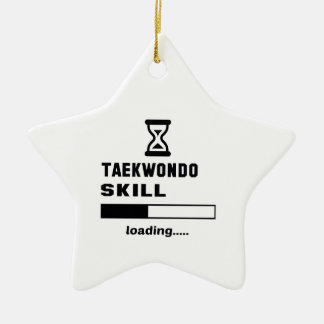 Taekwondo skill Loading...... Ceramic Ornament