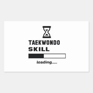 Taekwondo skill Loading...... Rectangular Sticker