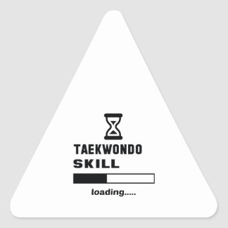 Taekwondo skill Loading...... Triangle Sticker
