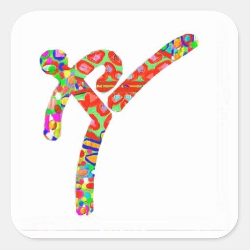 TAEKWONDO Sports Championship Square Sticker