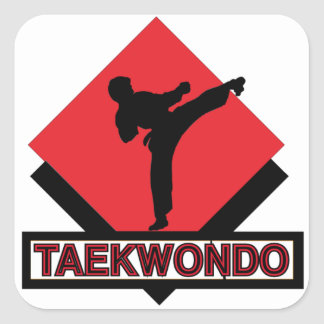 Taekwondo Square Stickers