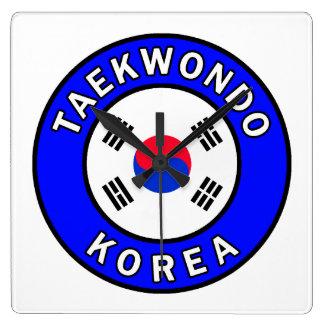 Taekwondo Square Wall Clock
