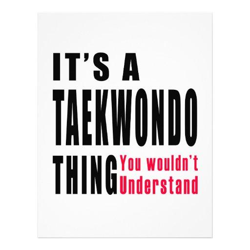Taekwondo Thing Designs Letterhead Design