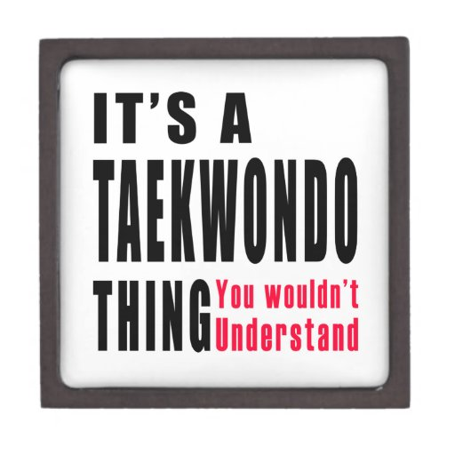 Taekwondo Thing Designs Premium Jewelry Box