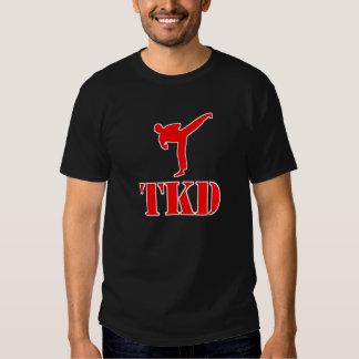 "Taekwondo ""TKD"" T-shirt (Red and White)"