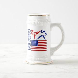 Taekwondo United States Beer Stein