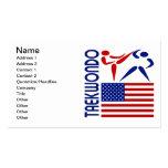 Taekwondo United States Business Card Templates