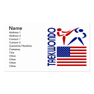 Taekwondo United States Double-Sided Standard Business Cards (Pack Of 100)