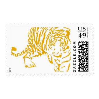 Tafari Gold Tiger by Ceci New York Postage Stamp