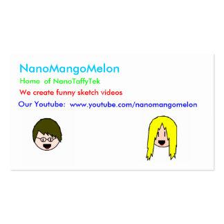 taffehsjjasjejew, nanodesign, NanoMangoMelon, H… Tarjetas De Visita