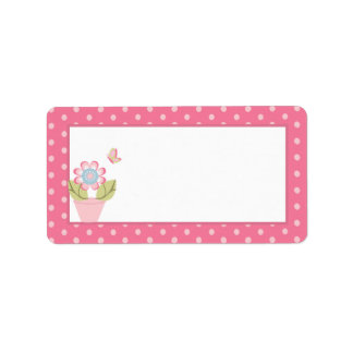 Taffy Butterfly Mailing Address Label
