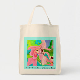 Taffy Pull Square abstract art grocery sack Tote Bag