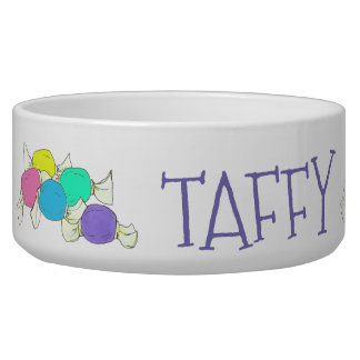 Taffy the Dog Boardwalk Salt Water Candy Beach Bowl