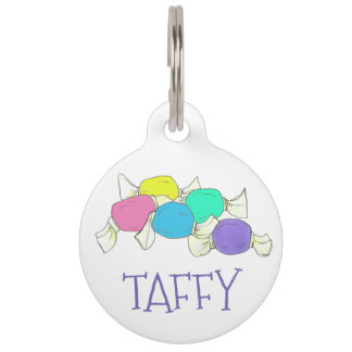 Taffy the Dog Boardwalk Salt Water Candy Beach Pet Tag