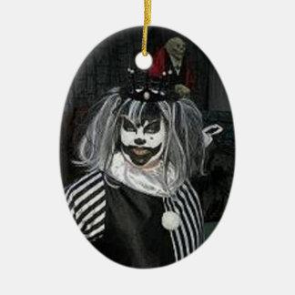 Taffy the Klown Double-Sided Oval Ceramic Christmas Ornament