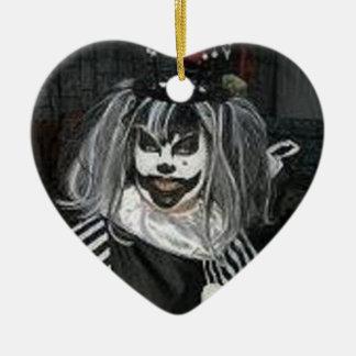 Taffy the Klown sweet  heart Double-Sided Heart Ceramic Christmas Ornament