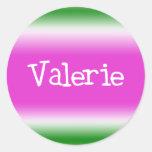 Taffy Twist: Valerie Classic Round Sticker