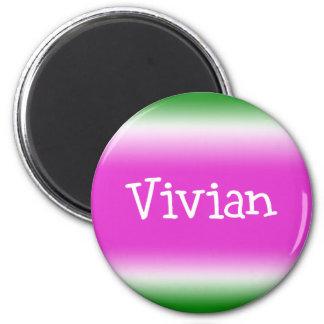 Taffy Twist: Vivian 2 Inch Round Magnet