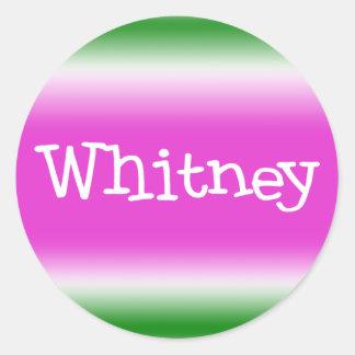 Taffy Twist: Whitney Classic Round Sticker