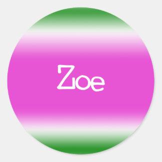 Taffy Twist: Zoe Classic Round Sticker