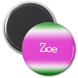 Taffy Twist: Zoe 2 Inch Round Magnet