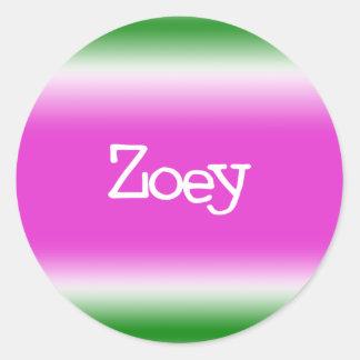 Taffy Twist: Zoey Classic Round Sticker