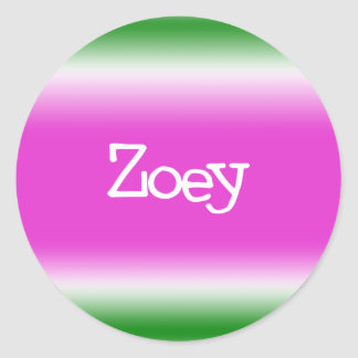 Taffy Twist: Zoey Round Sticker