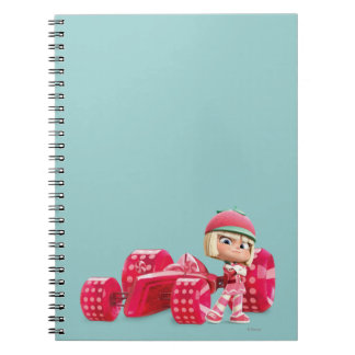 Taffyta Posing with Car Spiral Notebook