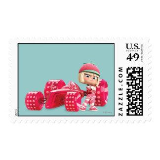 Taffyta Posing with Car Stamp