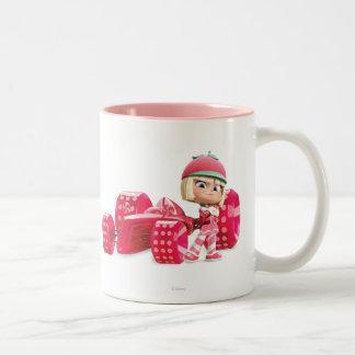 Taffyta Posing with Car Two-Tone Coffee Mug