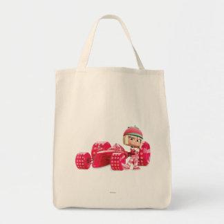 Taffyta que presenta con el coche bolsa tela para la compra