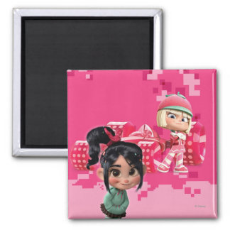 Taffyta & Vanellope 2 Inch Square Magnet