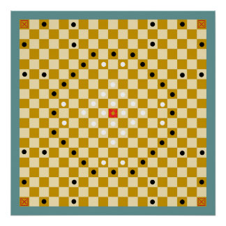 Tafl / Alea Evangelii (19x19) Game Board (Vers 3) Poster