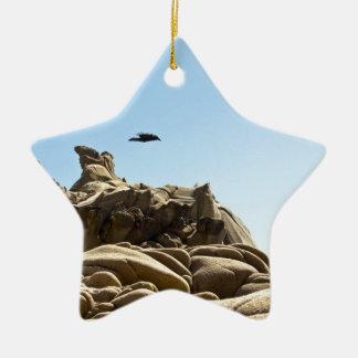 Tafoni Hover Raven Ceramic Ornament