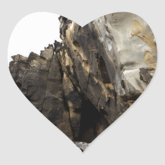 Tafoni Landscape with Large Clasp Heart Sticker