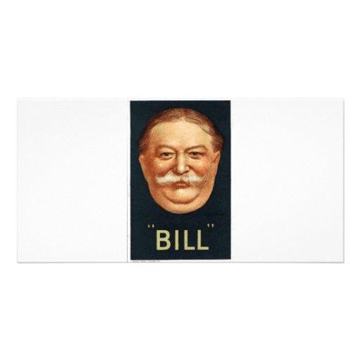 Taft 1908 tarjeta personal con foto